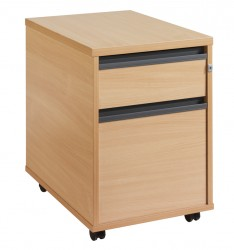 2 Drawer Mobile pedestal - graphite handle