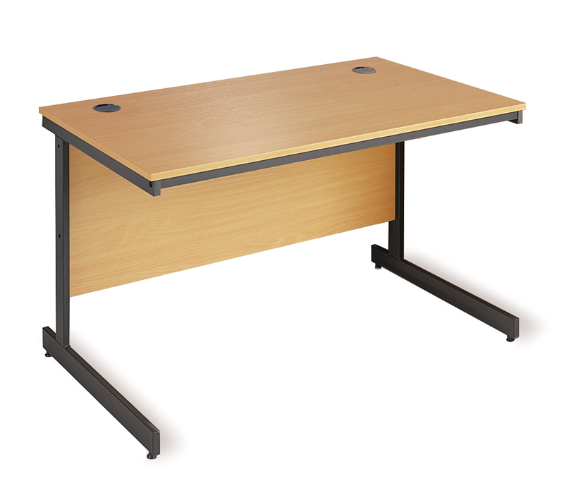 Straight Desk With Cantilever Leg