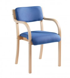 Prague Wood frame Stack Chair arms