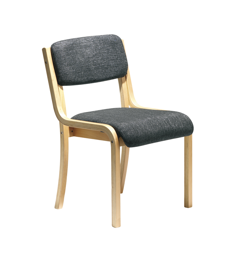 Prague Wood Frame Stack Chair No Arms