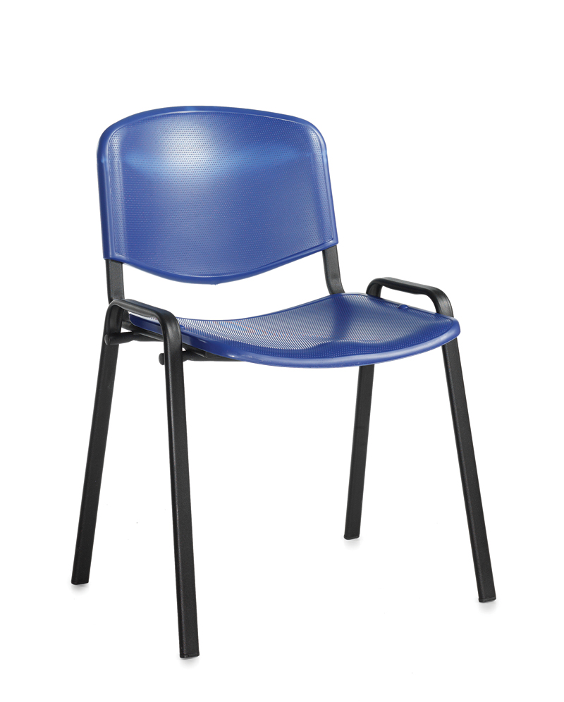 taurus plastic black frame stacking chair office