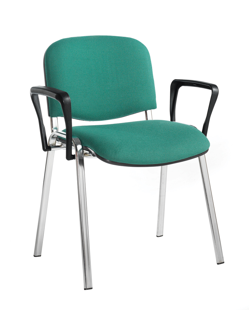 Taurus chrome frame stacking chair with fixed arms office furniture