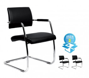Bruges Compound Leather visitor chair