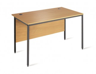 Straight H frame desk