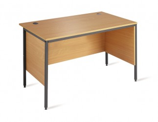 Straight H Frame desk with side modesty panels