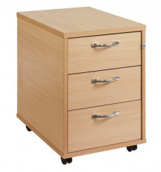 3 Drawer Mobile pedestal - silver handle